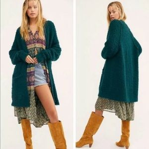 NWT Once In A Lifetime Long Green Cardigan Medium